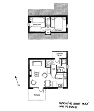 Floor Plans of Self Catering Cottages in remote Rahoy, Morvern on West Coast of Scotland